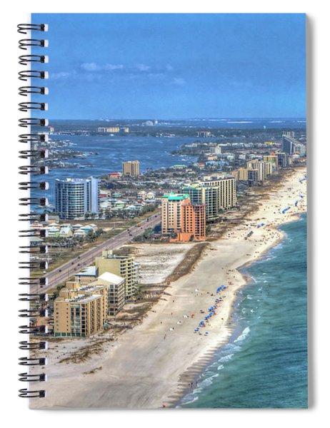 Orange Beach East Spiral Notebook