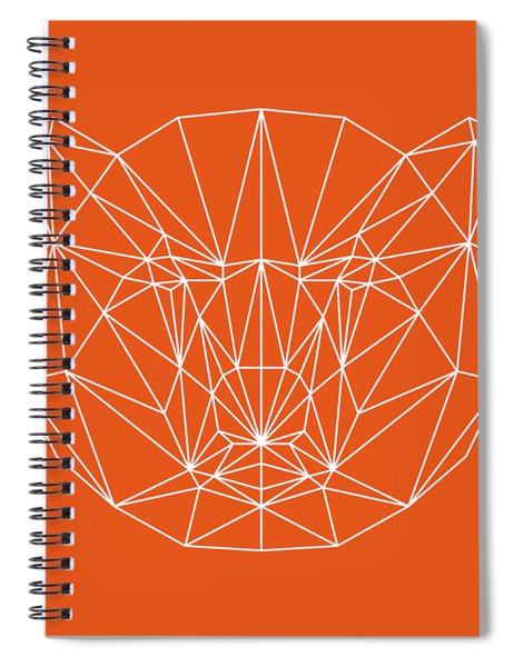 Orange Bear Spiral Notebook