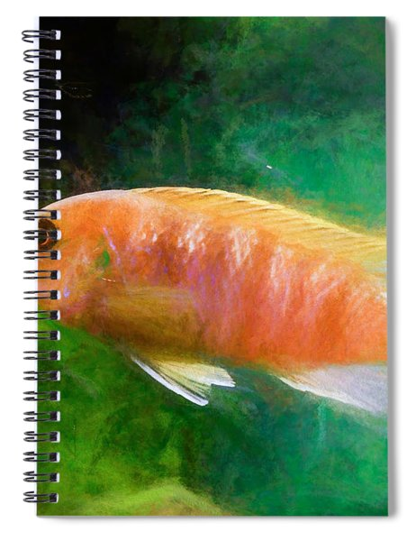 Orange Cichlid Chalk Smudge Spiral Notebook