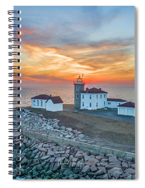 Orange Dreamsicle At Watch Hill Spiral Notebook