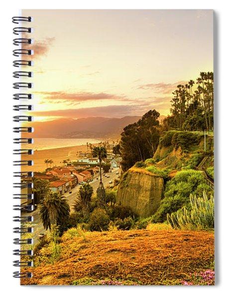 Orange Haze At Sunset Spiral Notebook