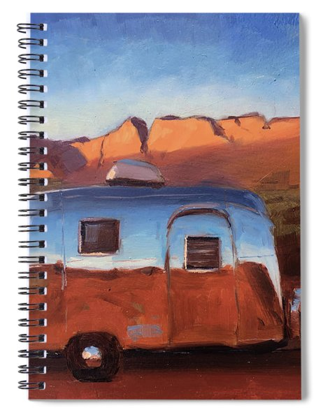 Orange Light On Red Rocks Spiral Notebook