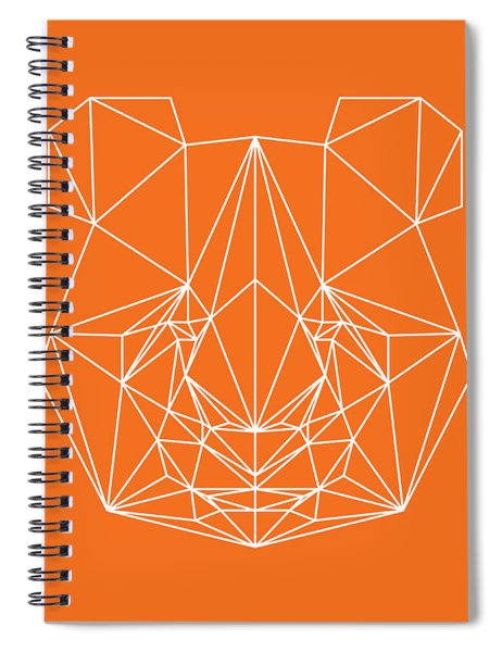 Orange Panda Spiral Notebook