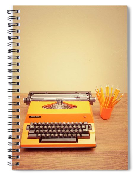 Orange Portable Typewriter 01 Spiral Notebook