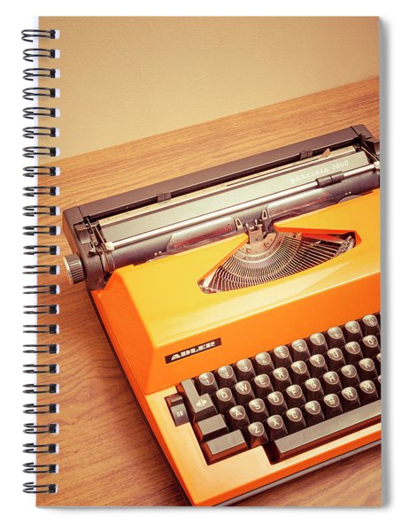 Orange Portable Typewriter 03 Spiral Notebook