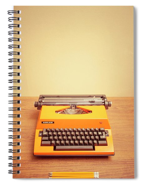 Orange Portable Typewriter 04 Spiral Notebook