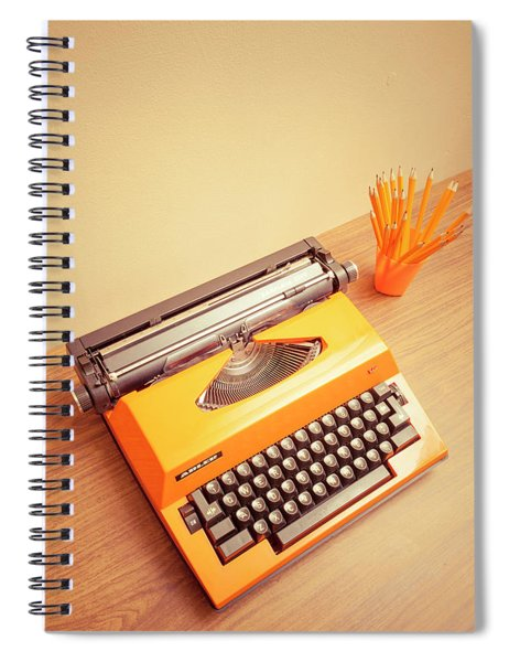 Orange Portable Typewriter 05 Spiral Notebook
