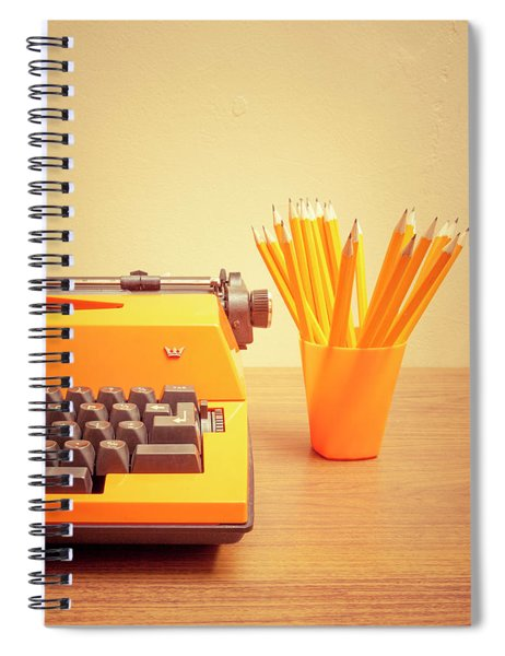 Orange Portable Typewriter 07 Spiral Notebook