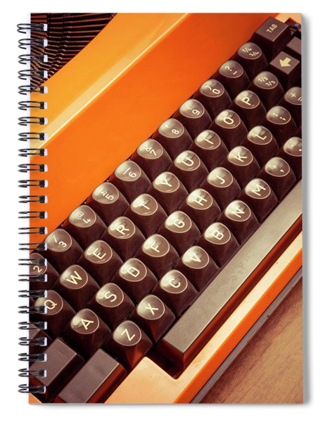 Orange Portable Typewriter 08 Spiral Notebook