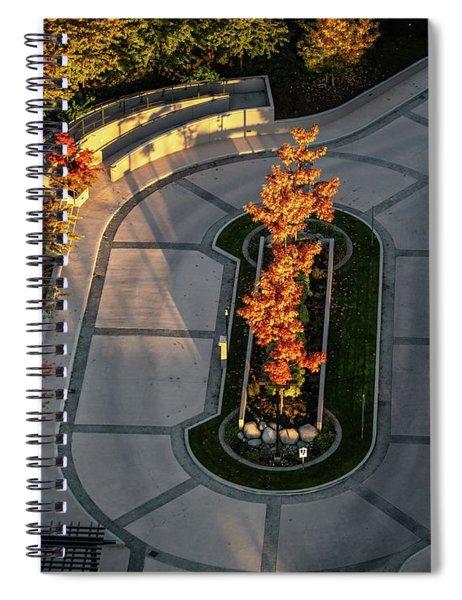 Orange Trees In Autumn Spiral Notebook