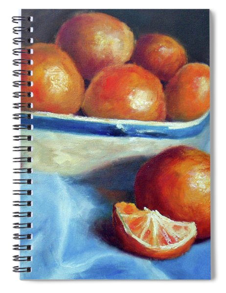 Oranges And Blue Spiral Notebook