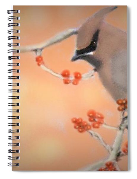 Orchard Waxwing Spiral Notebook
