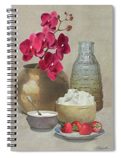 Orchid And Strawberries Spiral Notebook