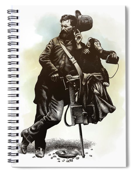 Organ Grinder Spiral Notebook by Clint Hansen