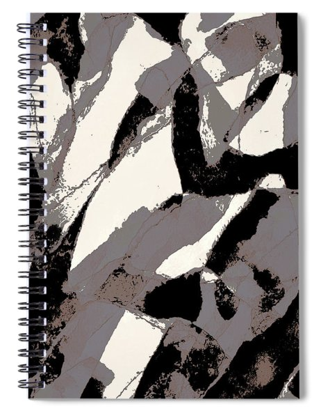 Organic 2 Abstract Spiral Notebook by Menega Sabidussi