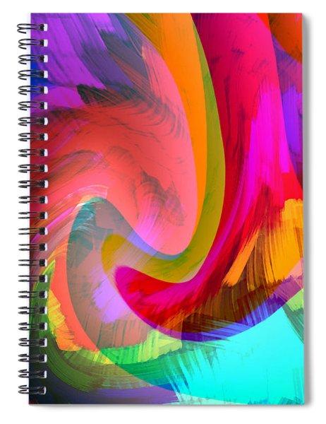 Original Fine Art Digital Abstract Warp10c Scaled Red. Spiral Notebook by G Linsenmayer