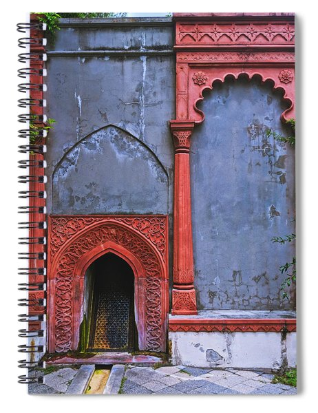 Ornate Red Wall Spiral Notebook