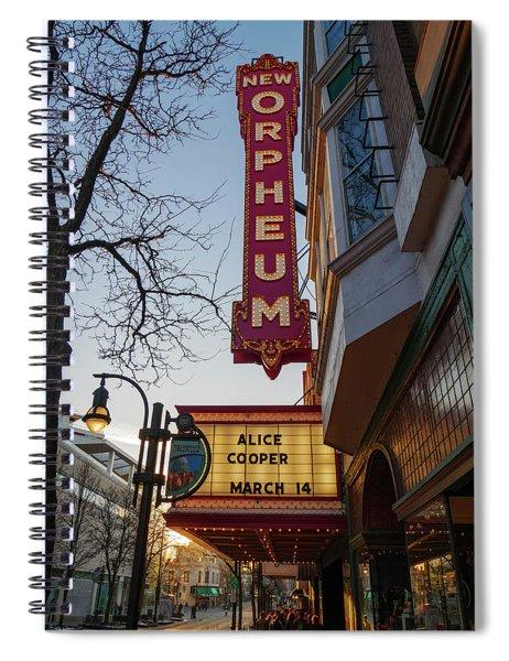 Orpheum Theater Madison, Alice Cooper Headlining Spiral Notebook