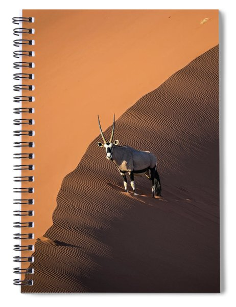 Oryx On The Edge, Namibia Spiral Notebook