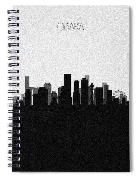 Osaka Cityscape Art Spiral Notebook