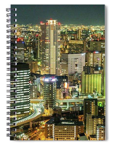 Osaka Skyline, Japan Spiral Notebook