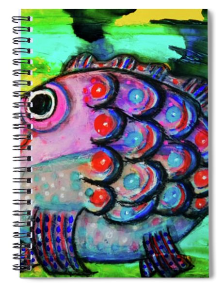 Oscar The Nosefish Spiral Notebook