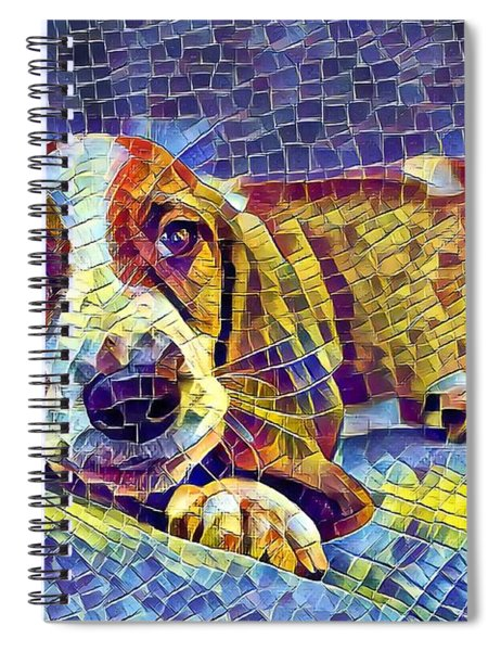 Otis The Potus Basset Hound Dog Art  Spiral Notebook