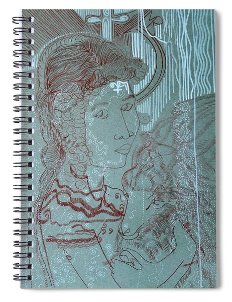 Our Lady Of Asia Mary Mother Of Jesus Christ, Divine Shepherdess Spiral Notebook