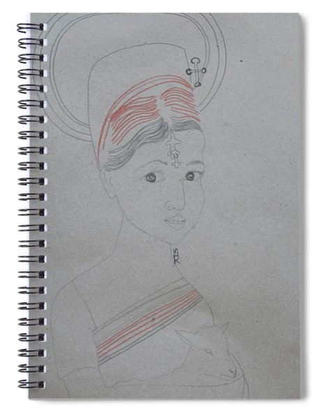 Our Lady Of Asia Saint Mary Divine Shepherdess Spiral Notebook