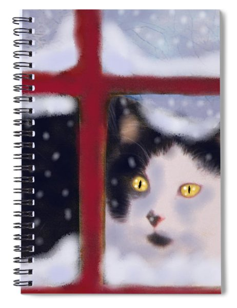 Out In A Winter Storm Spiral Notebook