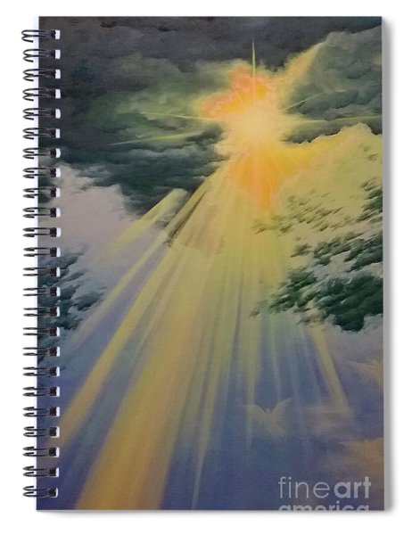 Out Of Darkness His Light Shall Shine Spiral Notebook