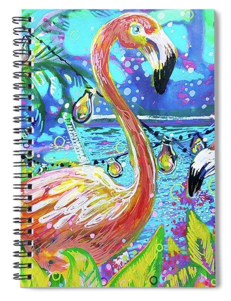 Outdoor Flamingo Party Spiral Notebook