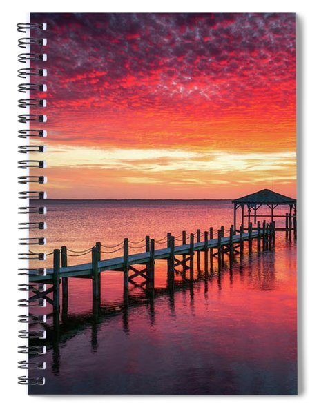 Outer Banks North Carolina Sunset Seascape Photography Duck Nc Spiral Notebook