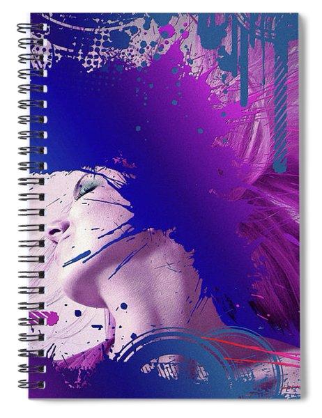 Outrageous Hair Tossing Spiral Notebook