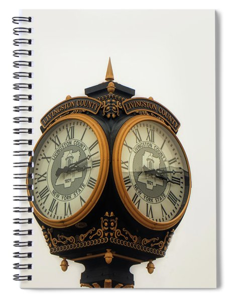 Outside Timepiece Spiral Notebook