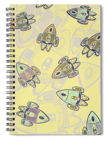 Overlaid Orbits Spiral Notebook