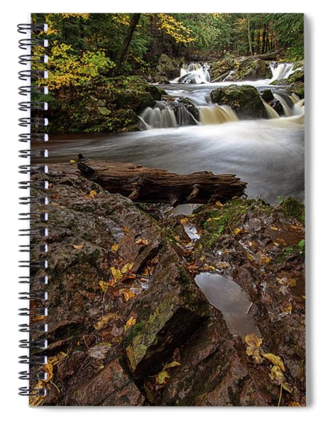 Spiral Notebook featuring the photograph Overlooked Falls 3 by Heather Kenward