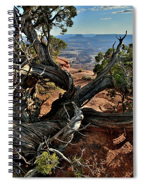 Overlooking Green River In Canyonlands Spiral Notebook