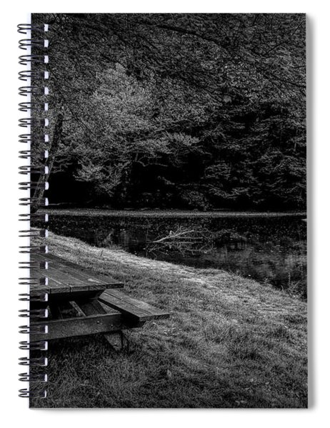 Overlooking The Sugar River Spiral Notebook