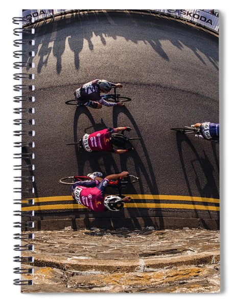 Ovo Energy Pro Cycle Race In Aberystwyth Spiral Notebook