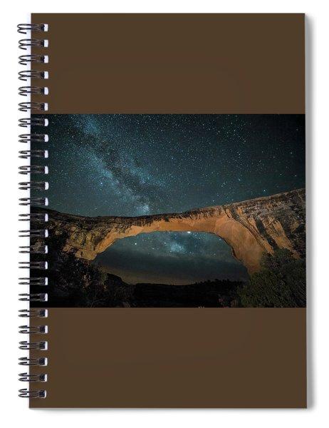 Owachomo Natural Bridge And Milky Way Spiral Notebook