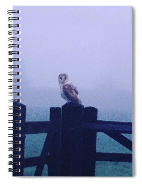 Owl In The Mist Spiral Notebook