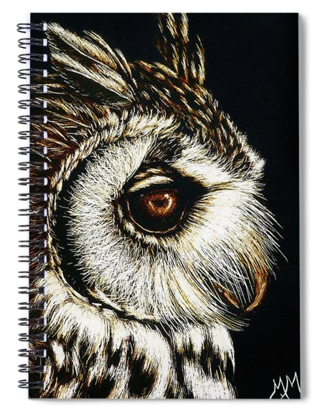 Owl Portrait Spiral Notebook