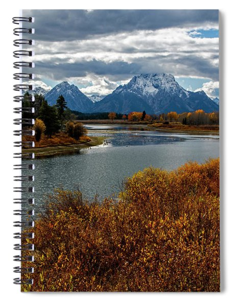 Spiral Notebook featuring the photograph Oxbow Bend by Scott Read