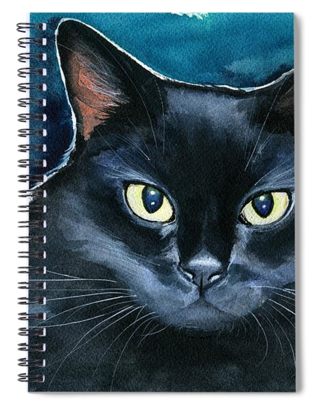 Ozzy Black Cat Painting Spiral Notebook