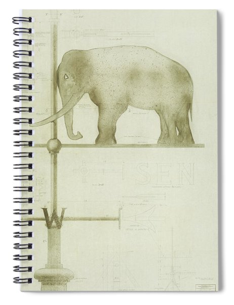 Pachyderm House, Philadelphia Zoo, Detail Of Weather Vane Spiral Notebook