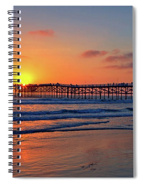 Pacific Beach Pier Sunset Spiral Notebook