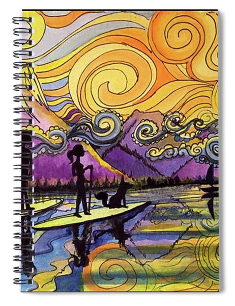 Paddleboarders Frisco Colorado Spiral Notebook