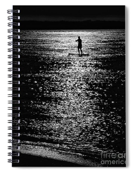 Paddleboarding In Silhouette Spiral Notebook