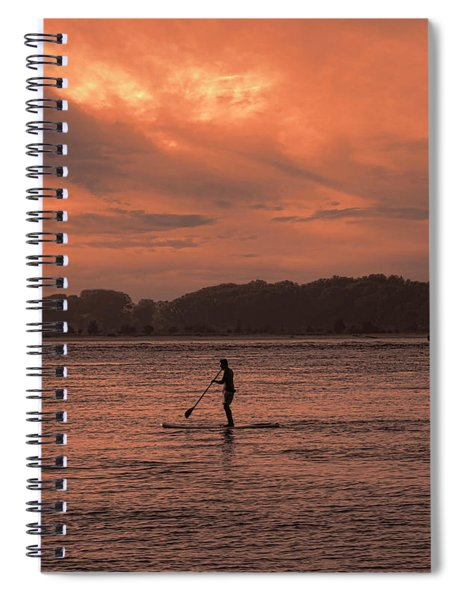 Paddleboarding On The Great Peconic Bay Spiral Notebook